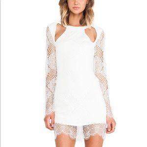 For Love and Lemons Eternal Love White Lace Dress